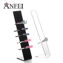 ANFEI 10 Pieces / Lot New Design Acrylic Hairband Holder Fashion Hair Clip Display Shelf Headbands Stand Designer Organizer