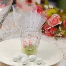 Free Shipping 50PCS Clear Mini Bucket Favors Cute TRANSPARENT mini pails Mini Bucket Candy Boxes Sweet Pails Wedding Party Ideas(China)