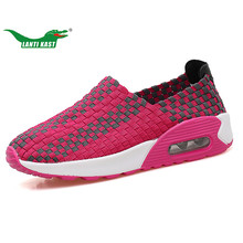LANTI KAST Women Running Shoes Outdoor Breathable Walking Jogging Sport Shoes Women Shock Absorption Cushion Girls Sneakers(China)