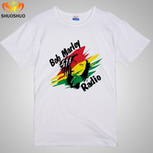 Most popular style BOB MARLEY Music theme avatars The high quality In the summer Men's short sleeve T-shirt(China)