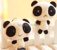 Kawaii Lover 1Pair Panda TOY Plush DOLL Phone Charm Bag Pendant TOY Keychain TOY DOLL ; Wedding Gift Decor Bouquet TOY DOLL