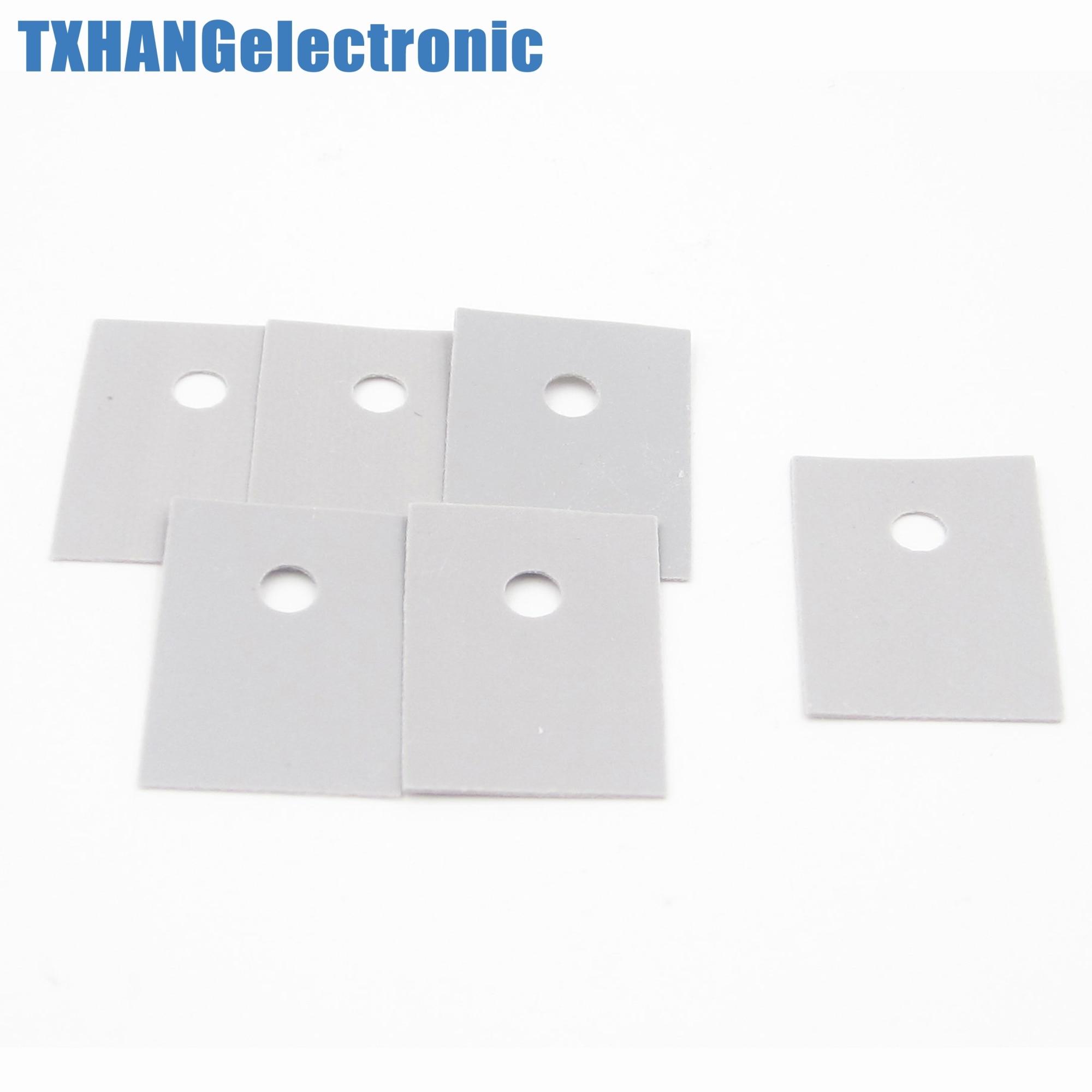 TO-220 Plastic Washer Insulation Transistor Circle//Pad Silicone Heatsink for GPU