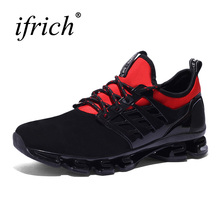 2017 New Brand Running Shoes Mens Sport Sneakers Mesh Breathable Quality Mens Jogging Shoes Brands Athletic Sneakers Black(China)