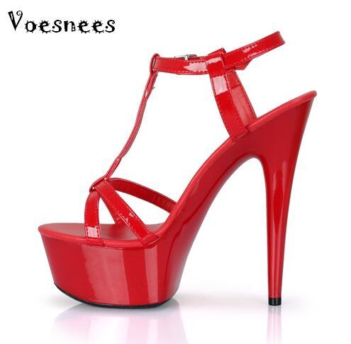Shoes 2016 Summer Fashion High-heeled Shoes Platform Thin Heels Sandals T Station Catwalk Belt Banquet Formal Dress Shoes Female<br>