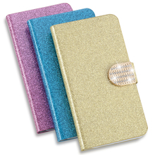 New Fashion Bling Glitter Cell Phone Holster Skin PU Flip Leather Back Cover Case For Nokia Lumia 920 Case(China)