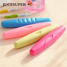 JUCESUPER 1PCS Toothbrush Holder BathRoom Accessories Toothbrush Case Holder Camping Portable Cover Travel Hiking Box(China)