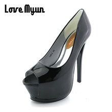 Buy 2018 women fashion Heel Concise Shallow Mouth shoes Peep Toe Thin Heels shoes pumps Wedding Party Super High 14cm shoes XA-07 for $22.82 in AliExpress store