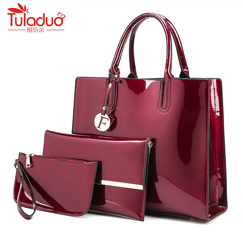 Luxury 3 Pcs/Set Fashion Women Handbags Brand Composite Bag For Women Shoulder Bags Female Purse Solid Casual Totes Hot Sale Sac<br>