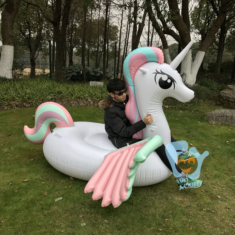 New Swimming Pool Float Giant Inflatable Pony Unicorn Pegasus Floaties Inflatable Water Toys Inflatable Mattress Boia Piscina<br>