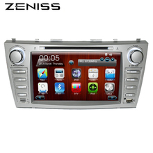 Zeniss Car DVD GPS For TOYOTA CAMRY AURION 2006-2011 with RDS 2 din dvd car stereo gps navigation map navitel camry dvd(China)