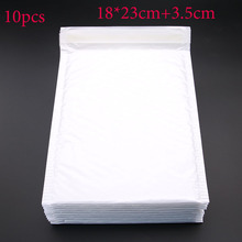 10pcs (18 * 23cm + 3.5cm) White Envelope Paper Bubble Mail Bag Bubble Postage Shipping Bags