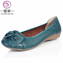 Plus size(34-43) women shoes genuine leather flat shoes woman work shoes newest fashion female casual single shoes women flats