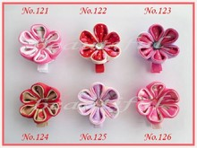 "hand customize free shipping 36pcs BLESSING Latest Vogue Various Style hair accessories 2.25 - 3"" Silk B- Flower 214(China)"