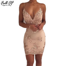Sexy Women Summer Gold Black Sequins Dress 2017 Ladies Luxury Sleeveless V Neck club Party Dresses Gown Woman Bodycon Vestidos