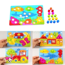 Baby Kids Wooden Children Educational Toy Cartoon Puzzle Board Infant Child Toy #T026#(China)