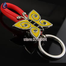 Creative Butterfly Car Key Chain Holder Bag Key Ring For Skoda Rapid Fiat Bmw E34 Renault Duster Citroen Buick Keychain Keyring(China)