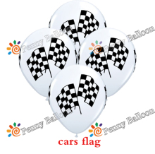 Wholesale 12pcs/lot  Racing Flag Latex Balloon Party Balloons Checkered Balloon Car Race Line Toys For Kids