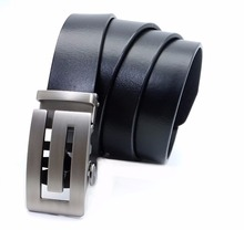 Buy LannyQveen 100%Genuine Leather Pure Cowskin Men's Automatic buckle belts cowhide Belt men High free for $13.94 in AliExpress store