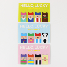 8PCS/2 set Cute Stationery HELLO Magnetic Bookmarks School Office Supplies Student Prize Book Mark Clips