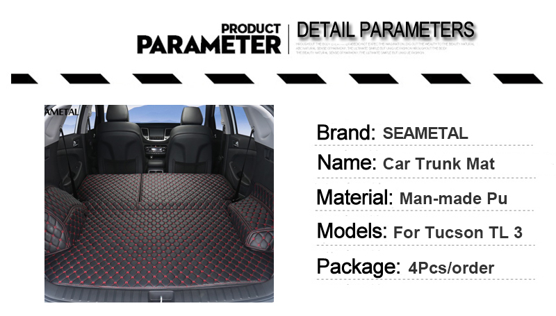 1 Cargo Liner For Hyundai Tucson 2018 2017 2016 TL 3 Car Floor Trunk Carpet Rugs Mats Automobile Accessories Car-styling Mat Rug