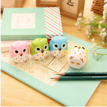 Kawaii Owl sharpener cutter blades promotional Pencil sharpener with two holes Gift Stationery Office School Supplies