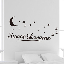 Wall Decoration Sticker Dream Words Sweet Dreams Star Vinyl Stickers For Kids Bedroom Home Decoration #84276