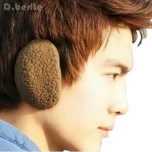 1 Pair Earcap Solid Unisex Winter Outdoors Bag Earmuffs Bandless Fleece Ear Warmers Men Women GDD8024(China)