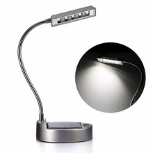 New Flexible Gooseneck Style 0.3W 4LED Solar Table Lamp USB Power Bank Charger super brightness design outdoor camping(China)