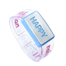 fashion women watches happy letter pattern LED Luminous Watches Flash Bracelet Strap wrist watches clock relogios femininos #5(China)