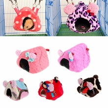 Warm Cute Small Animal Pet Rabbit Hamster House Bed Rat Winter Warm Hanging Cage Nest Cartoon Hammock Design