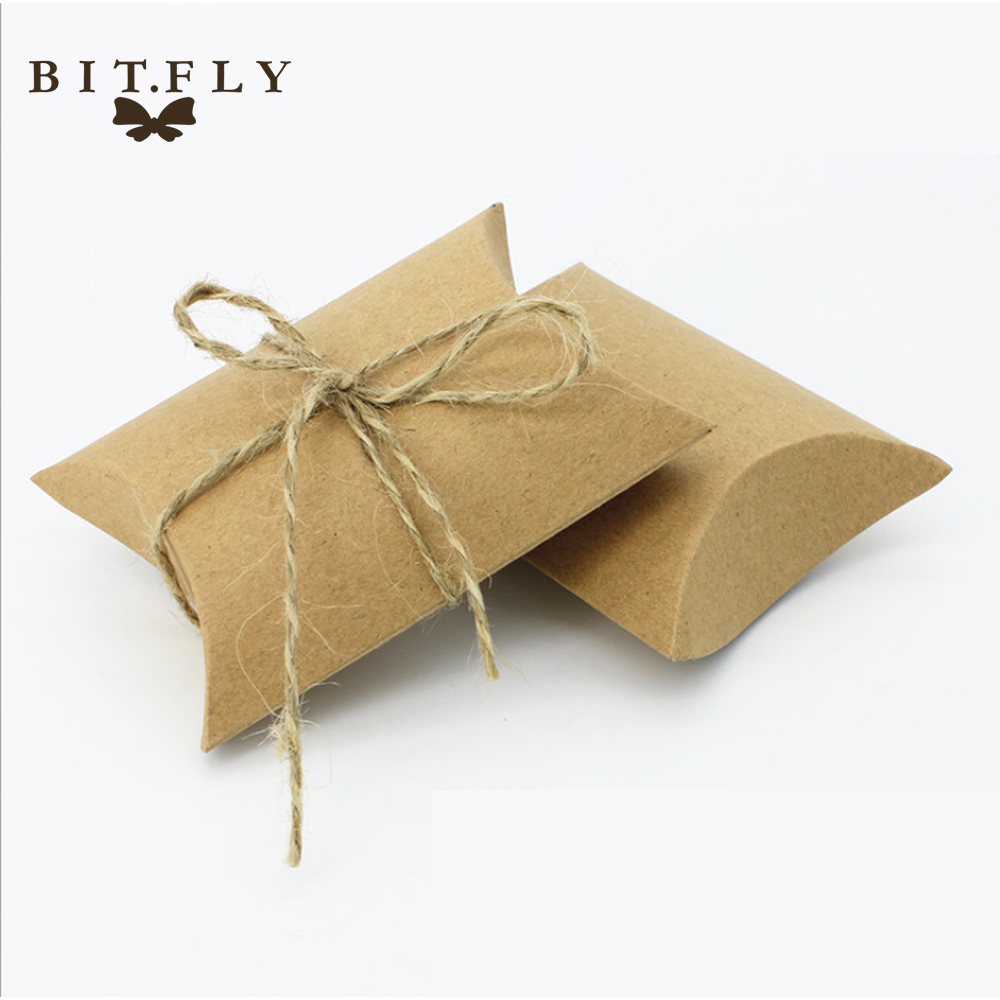 vintage Kraft paper candy Candy Box Gift Bag wedding gift baby shower favors birthday party Christmas Supplies white(China)