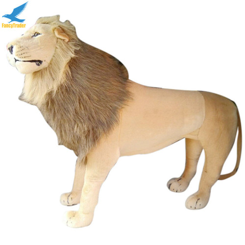 Fancytrader 43\'\' Giant Plush Stuffed Simulation Lifelike Lion King Simba Can be Rided by Kids Great Gift FT90284 (5)