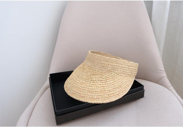 ladies uv roll up korean sun visor hat women sun visor straw sun visor caps (7)