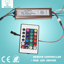 10pcs 10-100W LED Driver Power Supply IP66 Waterproof Led Transformer+RGB Remote Controller for Led Light DIY