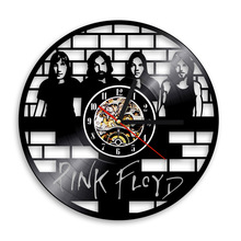1Piece Pink Floyd Clock Wall Art Vinyl Record Clock Rock'n'Roll Gift for Music Lover Vintage Clock LP Record Art Handmade
