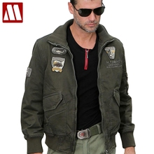 New brand cotton Stylish men aviator jacket M65 combat jacket bomber jackets 101st Airborne Division Outerwear Big size S-4XL(China)