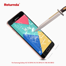 Premium 9H 0.28mm 2.5D Screen Protector For Samsung Galaxy A3 2016 A3100 A5 2016 A5108 A7 A8 A9 i8552 Tempered Glass film