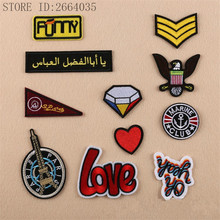 11pcs/lot Mix Cartoon Eiffel tower  Red  Eagle Embroidery Iron On Patches Clothes Appliques Sew On Motif Badge DIY Clothing Bag