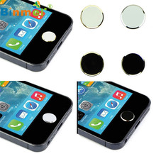 U Original 2 Pcs Metal Home Button Keypad Sticker Key Post for iPhone 4 4S 5 5S 6 6S For iPad N0223(China)