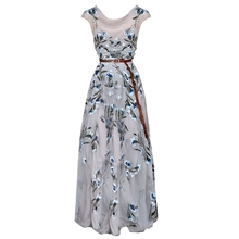 Europe And America 2018 Spring Summer New Designer Dress Assymetrical Sleeveless Embroidery Slim Waist Dress 1811(China)