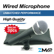Free Shipping! 3pcs/lots High Quality Version S 58 LC Wired Vocal Karaoke Handheld Dynamic Microphone 58LC Microfone Mic(China)