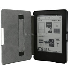 hand-hold leather cover case for Amazon 2014 new kindle touch 7 7th generation eBooks ereader 50PCS+screen protector+stylus
