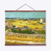 Vincent Van Gogh Famous Autumn Harvest Cottage Landscape Art Prints Poster Wall Picture Canvas Oil Painting No Framed Home Decor
