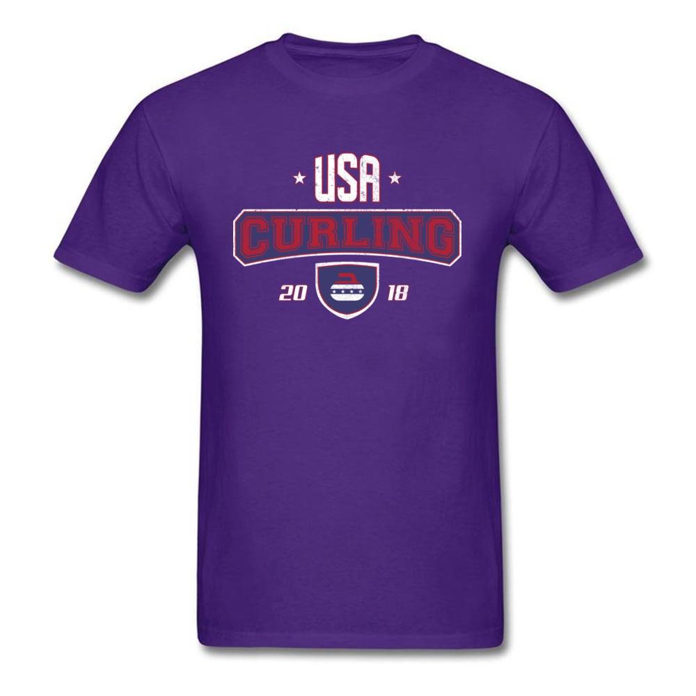 Curling USA Winter Sports Bonspiel Stone_purple
