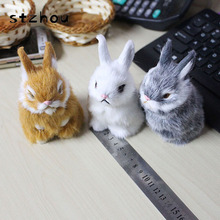 Lovely Mini Simulation Rabbit Doll Plush Toy Birthday Christmas Gift for Baby Cute Rabbits Stuffed Animals Gifts For girls(China)