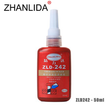 ZHANLIDA 242 50ml Screw Locking Agent Anaerobic Glue Medium Strength Adhesive Thread Seal up Anti Rust Thixotropic Glue
