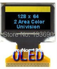 1pcs 0.96 inch OLED Display module with 128x64 Resolution Blue and Yellow color on black SPI IIC Interface double color(China)