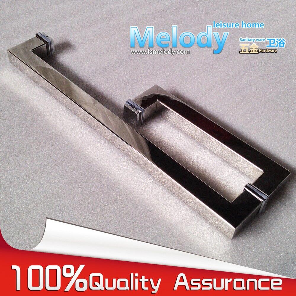 Frameless Shower Door Square tube Handle L shape 304 stainless steel Chrome<br>