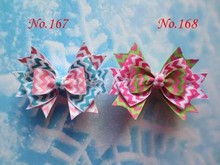 "wholesales hand customize free shipping 300pcs  BLESSING Good Girl Boutique 3.5"" Snowflake Hair accessories Bow Clip"