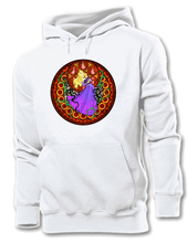 Cartoon Stained Glass Art sleeping Beauty Aurora Princess Red Rose Graphic Women Girl Sportswear Hoodie Sweatshirt Tops Hoody(China)